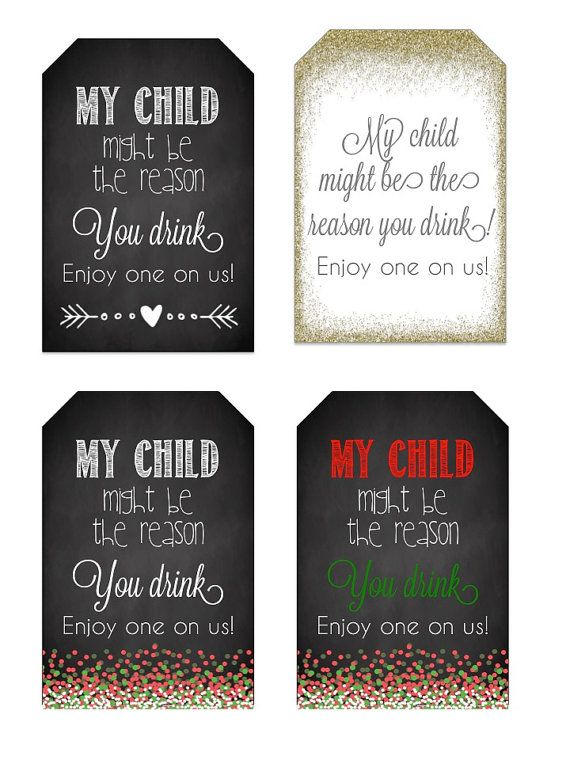 Teacher Wine Gift; My Child Might be the Reason you Drink ...