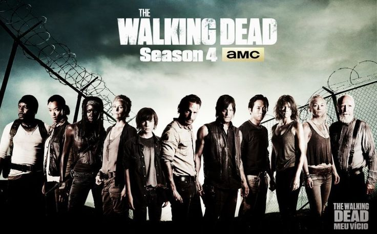 0703 40x60cm The Walking Dead Season 4 SO4 Zombie Blood Hot TV Series Poster - wall sticker Home Decor poster