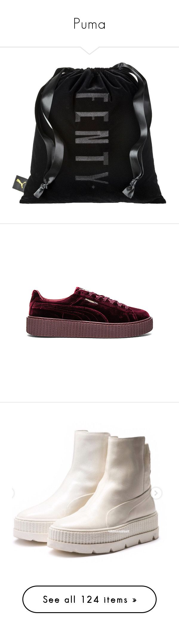 """""""Puma"""" by nasza ❤ liked on Polyvore featuring shoes, sneakers, bags, men's fashion, men's shoes, men's sneakers, mens metallic shoes, puma mens sneakers, mens lace up shoes and mens creeper shoes"""