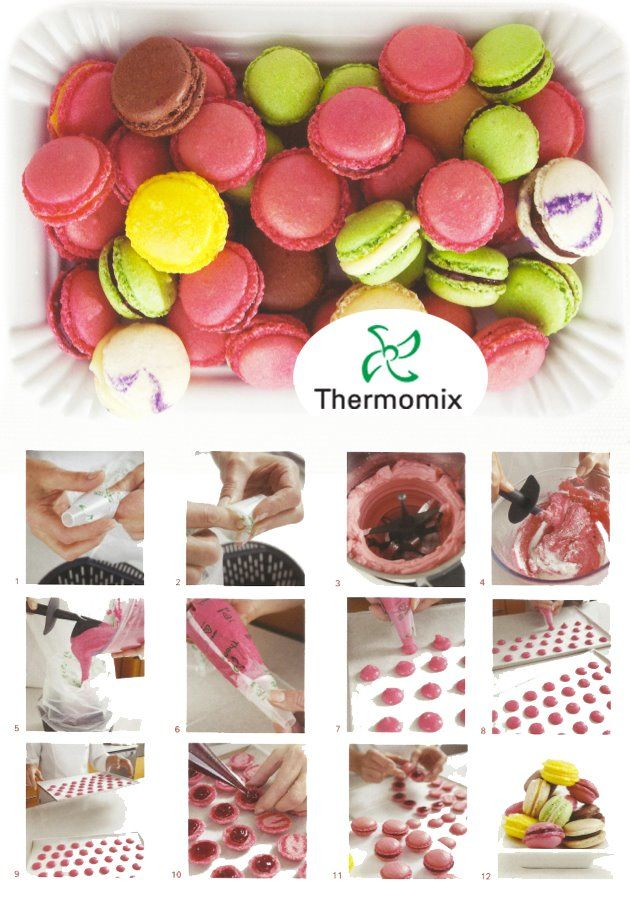 Macarons - Thermomix www.superkitchenm... www.thermomix-rec...