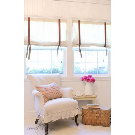 Wonderful Window Treatment DIY Projects - The Cottage Market...liked the upholstery....like the one for my room.