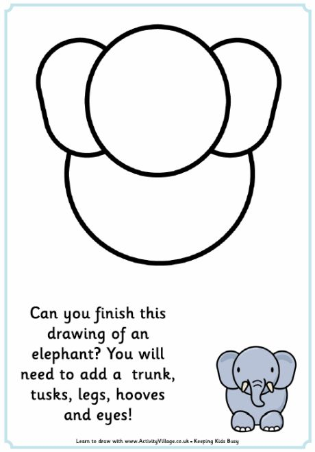 Complete the picture elephant