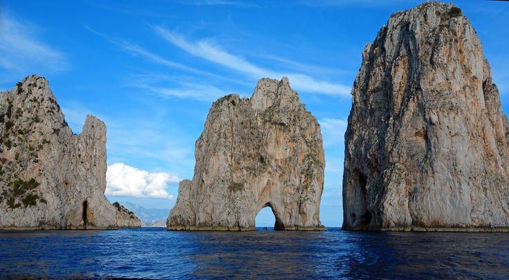 The Faraglioni rocks, island of Capri, Italy. Sail around them with us at www.insplendidcompany.com