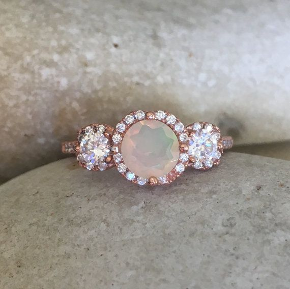 Hey, I found this really awesome Etsy listing at https://www.etsy.com/listing/268491187/opal-rose-gold-ring-three-stone