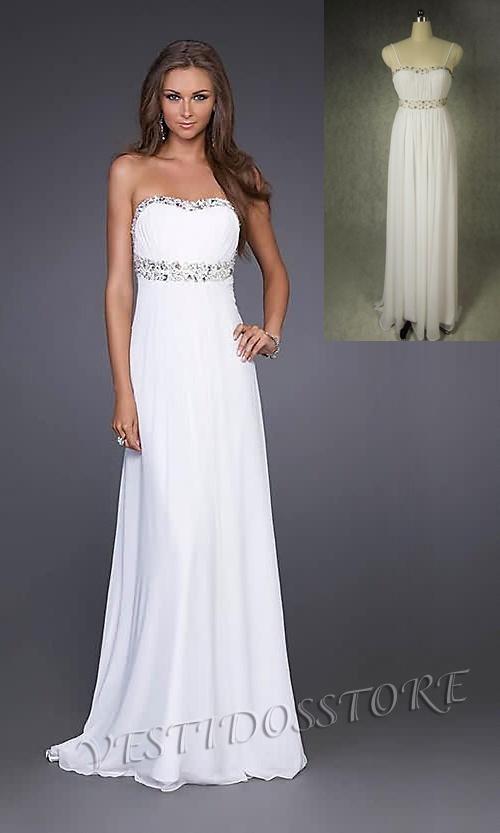 932629ec3 Vestidos de fiesta largos baratos blancos - Vestido azul