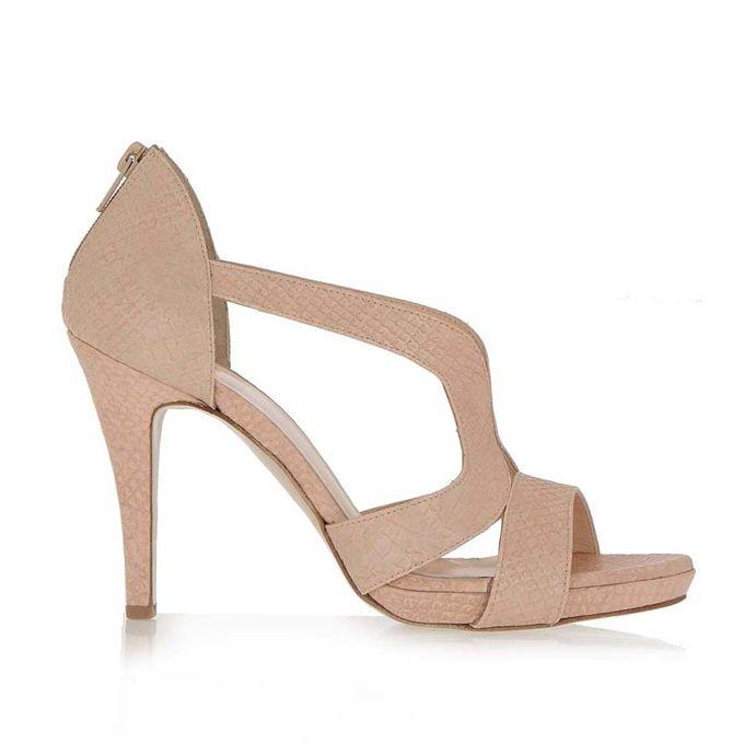 EXE nude φίδι παπούτσια τύπου peep toe | Tsakiris Mallas