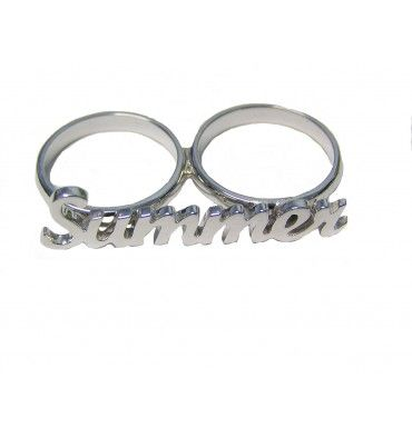 Double Finger Ring with choice of name.