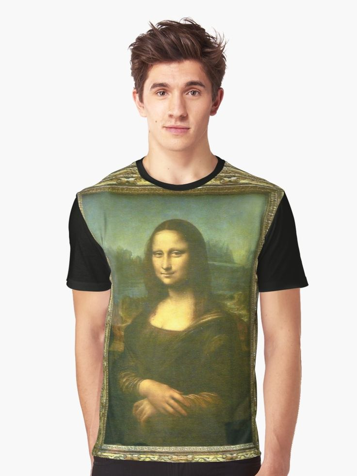 Mona Lisa in Frame Graphic T-Shirt