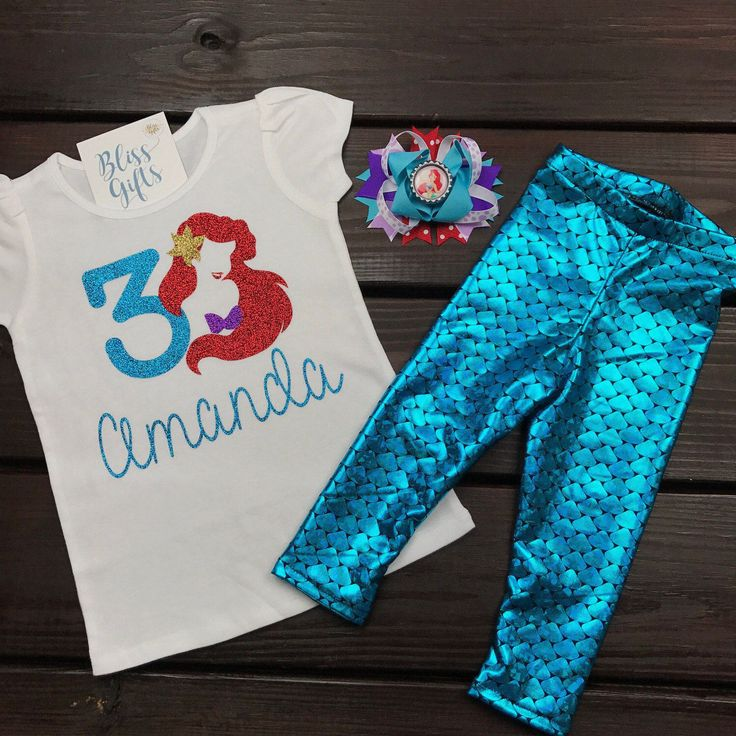 71 best birthday shirts custom personalized images on pinterest ariel disney little mermaid personalized negle Image collections