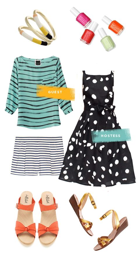 outfits for a friend's birthday party (host or guest)Polka Dots, Lightweight Shorts, Summer Parties, Casual Birthday Outfit, Outfit For Birthday Parties, Parties Outfit, Cute Outfit, Summer Birthday, Pattern Tops