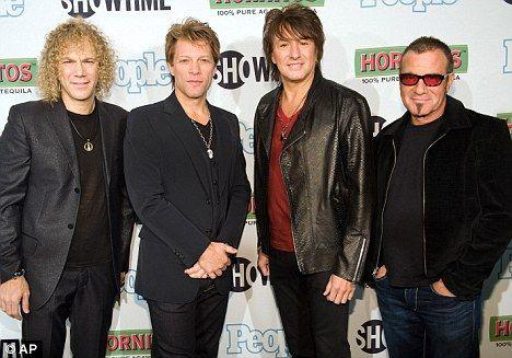 bon jovi band | Rock kings: Bon Jovi band members David Bryan, Jon Bon Jovi, Richie ...