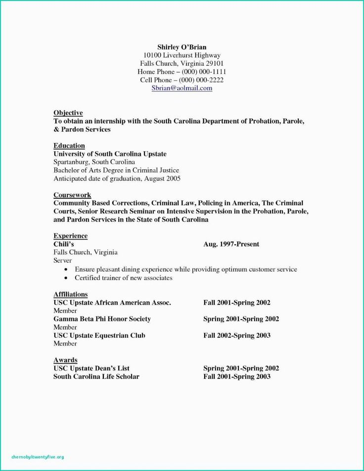 Food service resume objective examples, food service