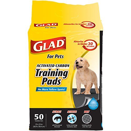 Glad for Pets 50 Count Activated Carbon Training Pads ** For more information, visit image link.