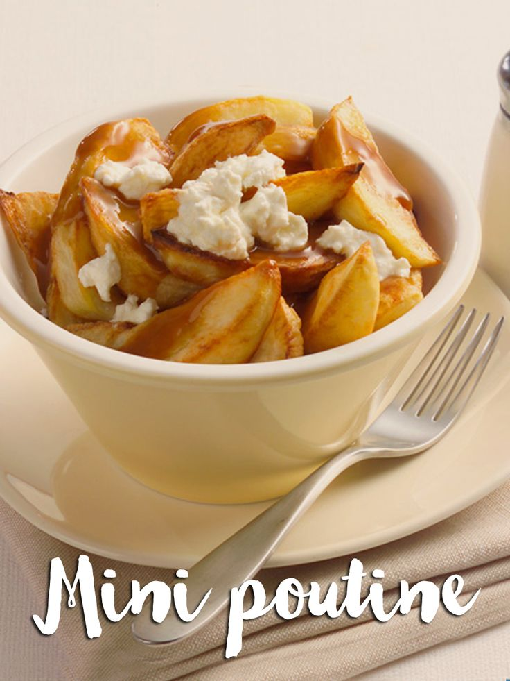 Sometimes you just feel like poutine, and that's ok! Check out our mini poutine recipe that doesn't break the #Smartpoints bank.