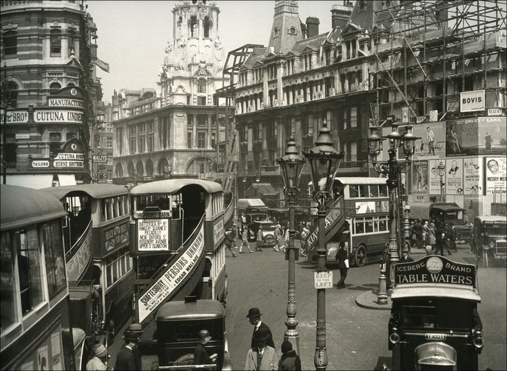Tottenham Court Road in 1929. To the right of the photo, the Dominion Theatre is under construction on the site once occupied by the Meux Brewery. Lost London - Page 23 - SkyscraperCity