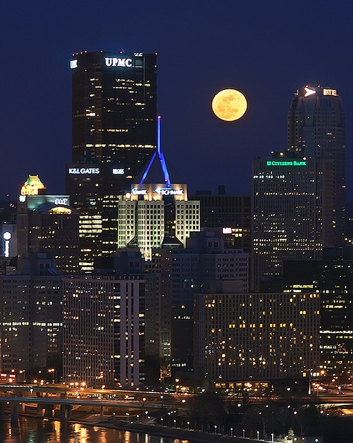 Super Moon over Pittsburgh.