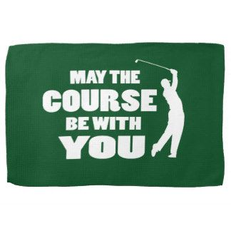 Golf - May  the course be with you Hand Towel
