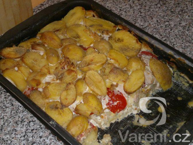 Recept na zapečené brambory s vůní Itálie.