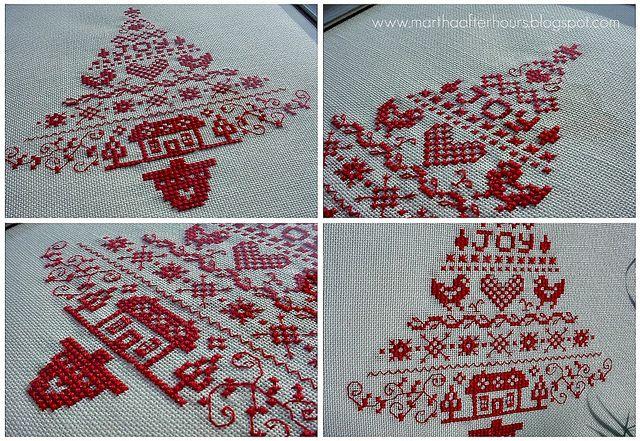 Scandinavian Christmas Tree cross stitch