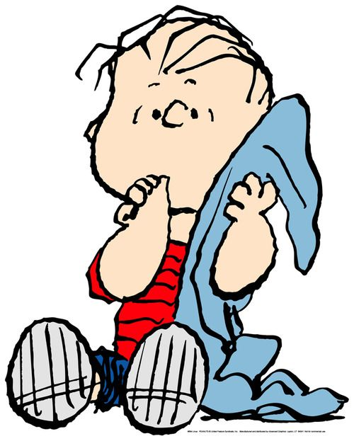 2. When there's a Charlie Brown special on, I know my mom has to watch it. And I picked him because she also has a favorite blanket. :)