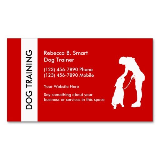 Best Dog Trainer Business Cards Images On   Business