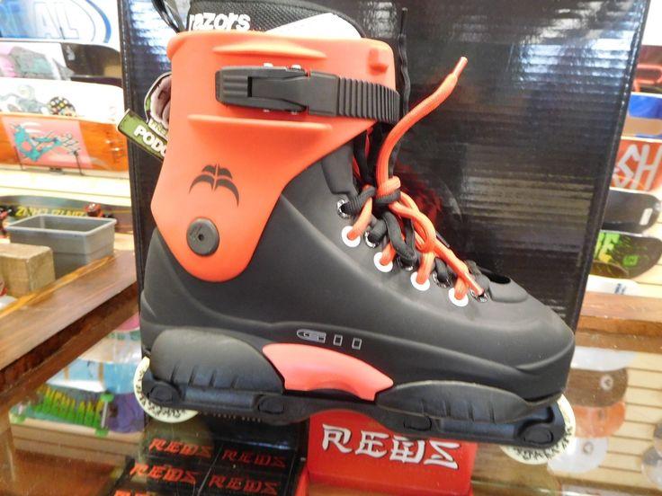 Razors Genesys G11 Aggressive inline Skates Rollerblades size 9 black/red NEW!!