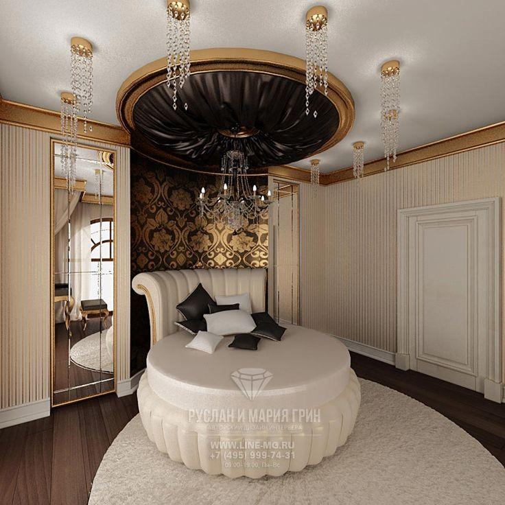 Кровать в детской комнате для девушки http://www.line-mg.ru/portfolio/dizayn-doma-stil-art-deco/