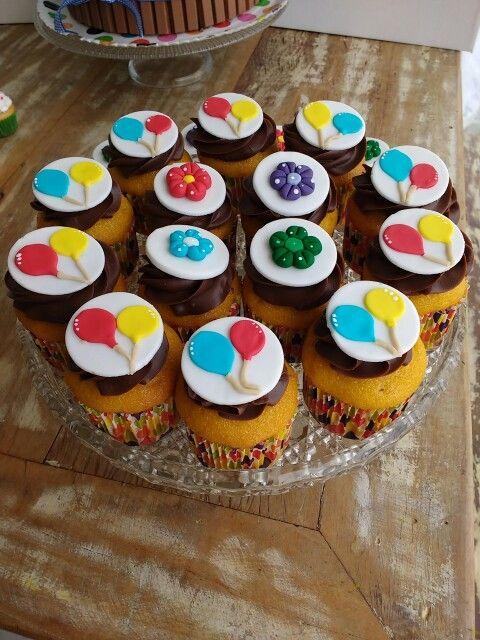 Cupcake Cenoura com Brigadeiro de Nutella e Ganache de Chocolate