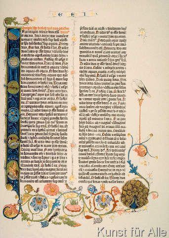 Johannes Gutenberg - Gutenberg-Bibel, Initiale I