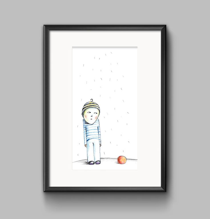 The boy with ball by olgutzashop on Etsy