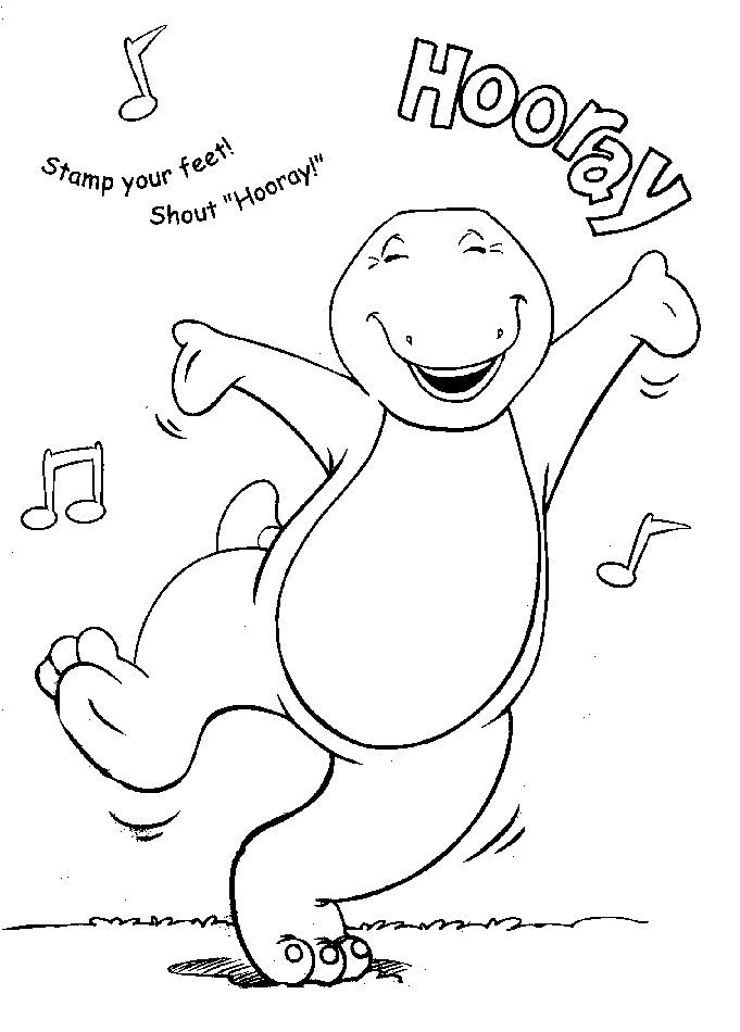 barney coloring pages 001 barney and friends also referred to by hit entertainment as barney the friendly dinosaur is an independent child - Barney Dinosaur Coloring Pages