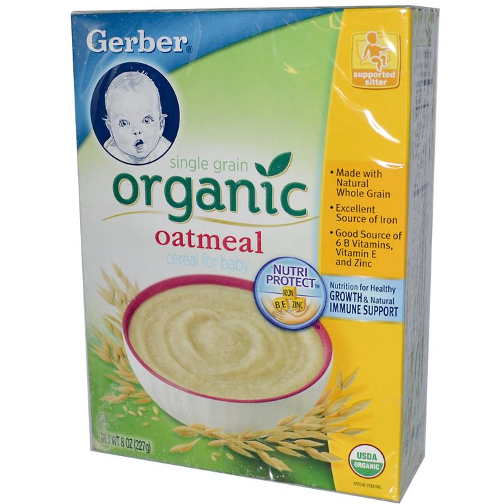 Gerber, Organic Cereal for Baby, Single Grain Oatmeal, 8 oz (227 g) (Discontinued Item)