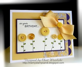 card: My Sisters, Cute Cards, Birthday Cards Inspiration, Birthday 3, Birthday Buttons, Buttons Flower, Stampin Cards, Buttons Cards, Cards Buttons