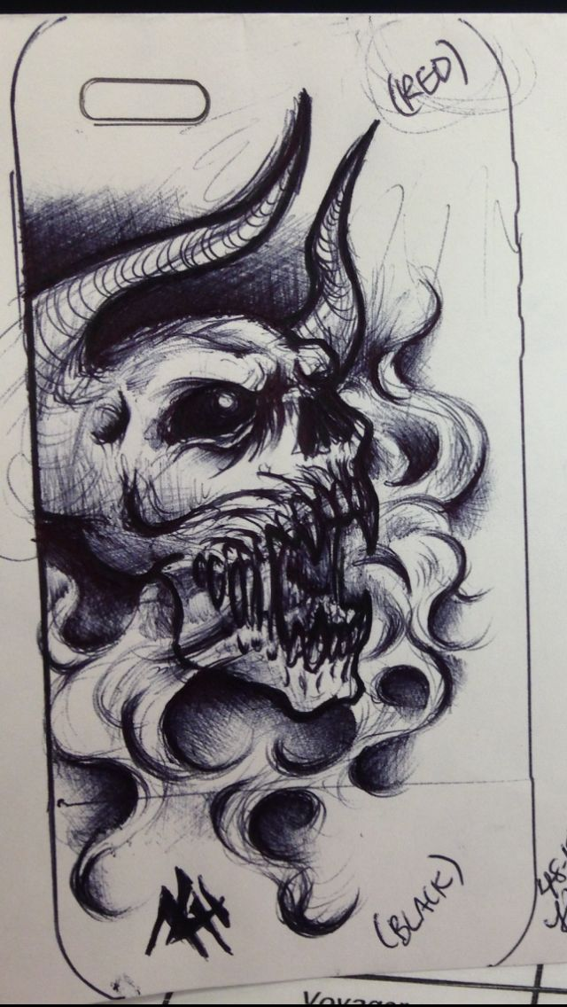 Smoking demon skull by demon neko of hell
