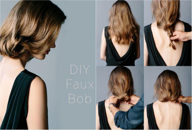 DIY: Vyčarujte si z koruny krásy nový účes - FAUX BOB - KAMzaKRÁSOU.sk  #kamzakrasou #krasa #tutorial #beauty #diy #health #hair #hairstyle #uces
