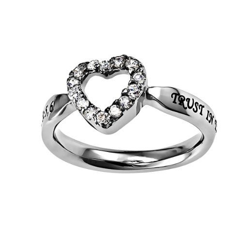 "Christian Womens Stainless Steel Abstinence 3mm Proverbs 3:5 ""Trust In The Lord With All Your Heart"" CZ Open Heart Solitaire Chastity Ring for Girls - Girls Purity Ring - Comfort Fit Ring, http://www.amazon.com/dp/B00F48CQRS/ref=cm_sw_r_pi_awdm_K-RGtb075T6E0"