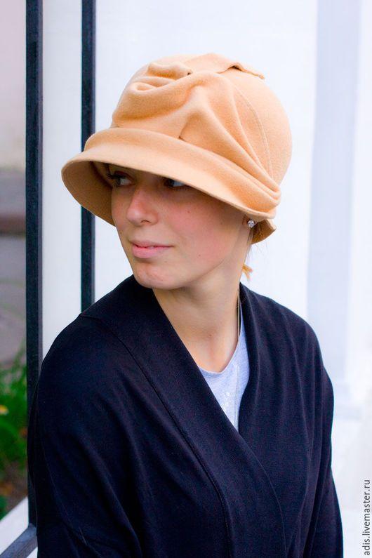 Шляпы ручной работы. Ярмарка Мастеров - ручная работа. Купить Шляпа «роза беж». Handmade. Бежевый, цветок, клош
