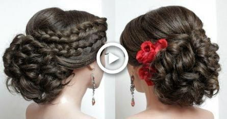 Bridal Hairstyle For Long Hair Tutorial. Wedding Updo With French Braids. #wedding #diy #hairstyles #braids #promhairupdot