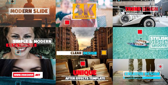 Modern Slide Show (Miscellaneous) #Envato #Videohive #aftereffects