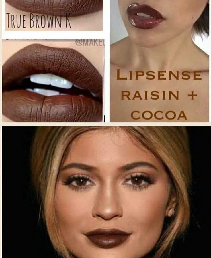 Get Kylie Jenner's Look with LipSense 'Raisin+Cocoa', topped with Matte Gloss!