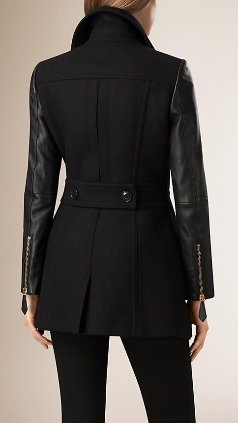 Burberry jas - belijning achterkant