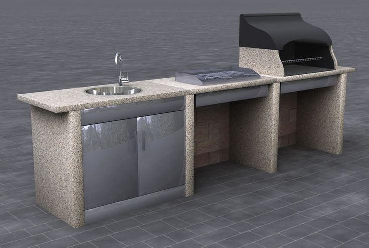 Oltre 25 fantastiche idee su cucine da esterno su - Cucina in muratura per esterni ...
