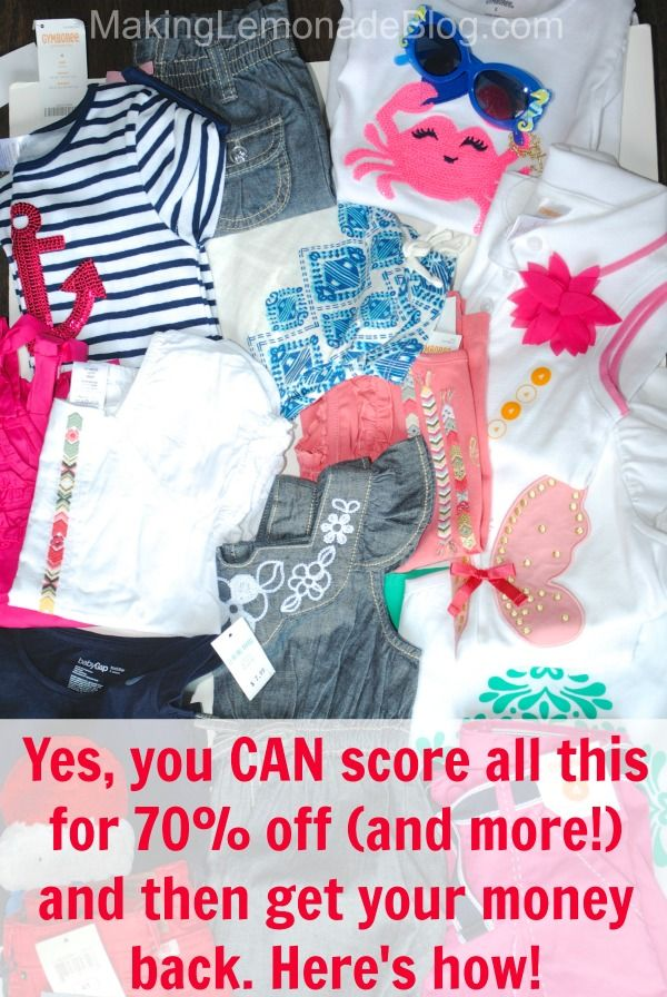 Amazing tips on how to get name-brand kids clothes FOR FREE! Yes, FREE! Follow this system, it really works!