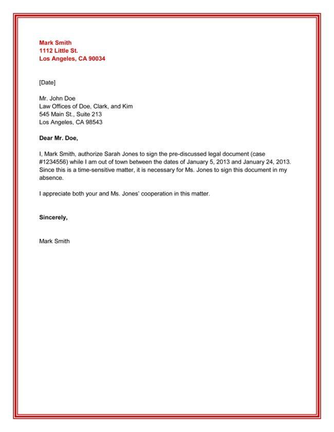 Hasil Carian Imej Untuk Authorization Letter Letter Format