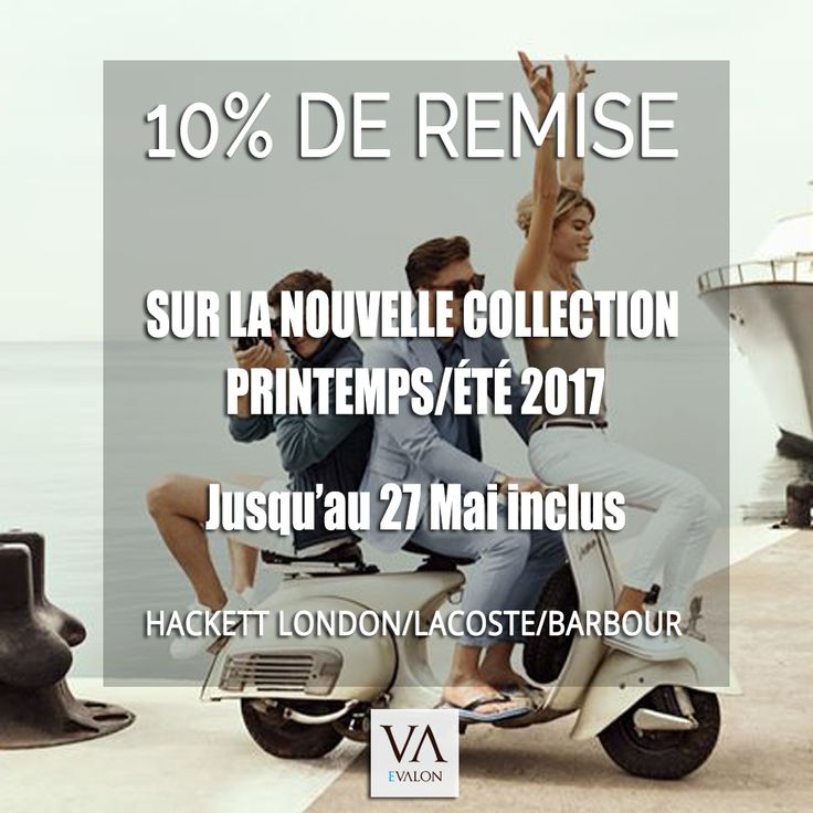 Mode Homme Promos vêtements homme : 10% de réduction sur la nouvelle collection homme printemps/été 2017 : Hackett London, Lacoste, Barbour