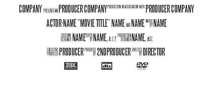 Printable Design » Movie Poster Text Template - Poster Template ...