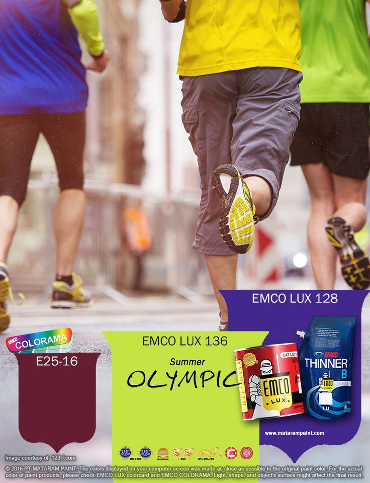 Kawan EMCO, olimpiade selalu menjadi dambaan para olahragawan dunia untuk menguji kemampuan mereka, mengukir prestasi dan mengharumkan nama bangsa dan negara. Terinspirasi dari warna-warni maskot Olimpiade Musim Panas 2016, hadirkan keceriaannya dalam hunian Anda dengan pilihan EMCO LUX 136, EMCO LUX 128 dan E025-16 warna dari palet EMCO. Untuk artikel menarik lainnya kunjungi saja kami di http://matarampaint.com/news.php. Jadikan yang biasa menjadi luar biasa bersama EMCO.