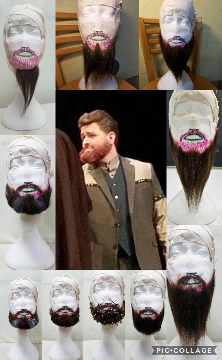 """Hand Ventilated Beard and Mustache Earl of Kent William Shakespeare's """"King Lear"""" Gustavus Adolphus College May 2017"""
