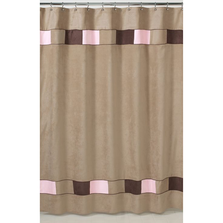 Shower Curtain Gold Soho Pink And Brown Shower Curtain
