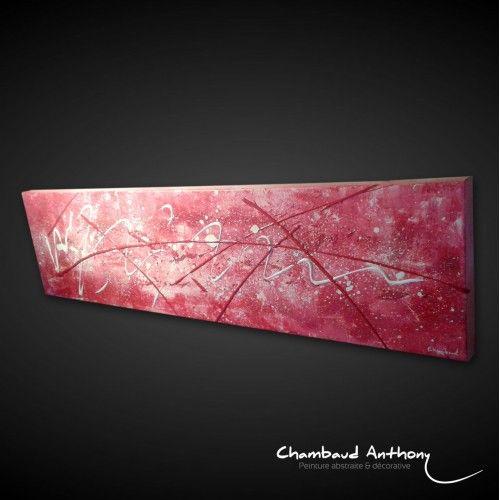 Tableau rose fushia tableau abstrait maison 3d et roses - Peinture rose fushia ...